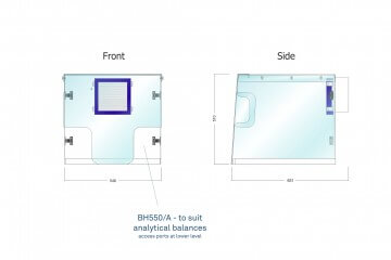 Waysafe BH550/A Technical Drawing