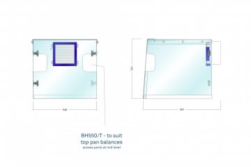 Waysafe BH550/T Technical Drawing