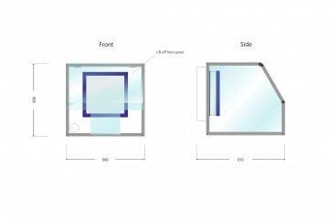 Waysafe GP540 Technical Drawing