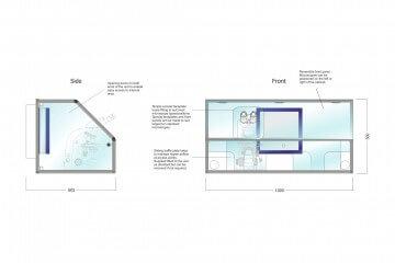 Waysafe SA1000 Technical Drawing